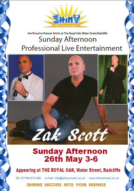 Royal Oak Entertainment Sunday Afternoon 26th May Image